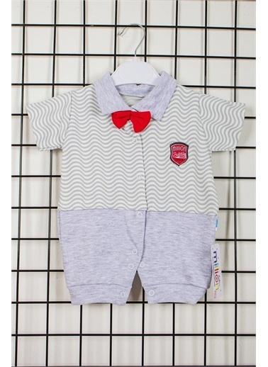 Pelops Kids Million Babies Çizgili Armalı Erkek Bebek Tulum 1984 Mavi